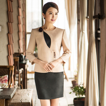 Women Uniform Designs for Office Work Wear Ladies Front Desk Cashier Suit Hotel Uniform for Receptionist Uniform WS596