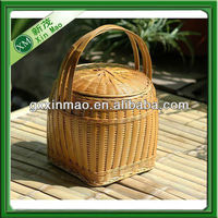 wholesale bamboo food container&box with lid and handle