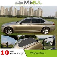 zsmell one way vision decorative electrostatic bullet proof car tint film anti-explosion solar window film