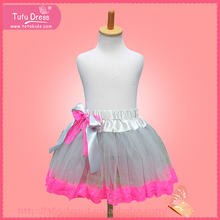 Girl grey tutu skirt, wholesale teen girls skirt summer clothing, children skirt
