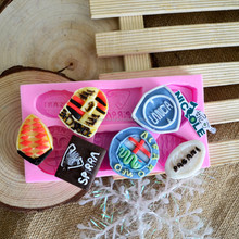 F1080 World famous car logos bakery tools for cake decorations chocolate and candy silicone molds