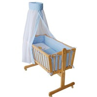 baby Wooden Swing Bed, baby Swing crib,natural color Bed