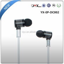 detachable cable earphoner / metal earphones with mic for music player mp3 mp4