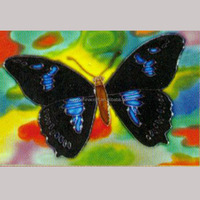 Hand painted wall hangings tiles ceramic pictures of butterflies