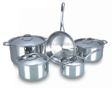 9pcs stainless steel 3ply waterless cookware set