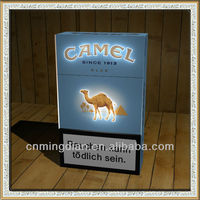 LED acrylic cigarette display, camel led cigarette case,led cigarette display