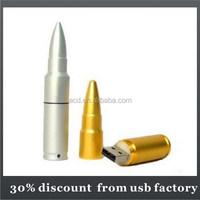 china factory bullet shape usb flash disk 64GB