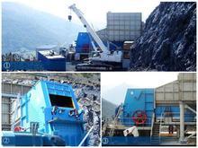 Mining machine with high crushing ratio plaster impact crusher