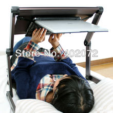 Adjustable Rolling Portable Mobile Computer Notebook Desk Stand Laptop Table
