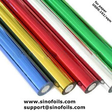 Hot stamping foil for paper 12microns*640mm width *120m length USD0.102/square meter A grade quality