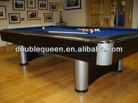 russian pyramid billiard table with silver metal corner