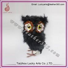Life sized artificial feather decorative bird owl