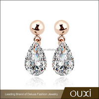 OUXI factory direct sale zircon earrings fashion woman ladies earrings designs pictures