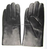 Soft lambskin classic and plain daliy life style mens gloves with warm wool lined