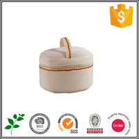Round cosmetic jewelry bag for ladies
