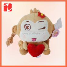 OEM cheap wholesale plush stuffed mini soft toy monkey