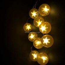 5cm yellow star ball led holiday lights led decorative light LED Battery light