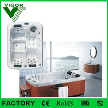 Factory free sex massage bath tub for couples whirlpool JY8013