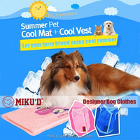 M Size Summer Wholesale PVA mesh durable dog cooling vest/ Clothes for Cooling