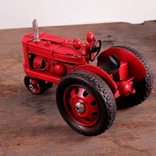 """Vintage Looking Antique 6"""" Handcrafted vehicle Car Model tractor"""