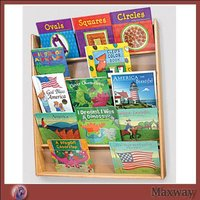 Wall Mouting Wooden Acrylic Kids Book Holder in the Store