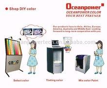 Pintar sistema tintométrico ((máquina de teñido, colorantes, tarjeta de color, software)