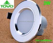 3w cut out 80mm recessed high popular led downlight,3w led down light,led downlight 3w