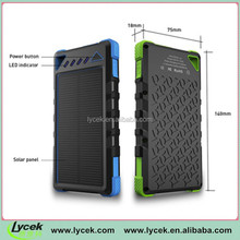 Waterproof Smart Solar Charger - Lycek 8000mAh Portable Solar Panel with Rechargeable Battery Pack from China
