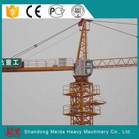 Hydraulic QTZ63 5010 50m length double slewing jib Tower Crane