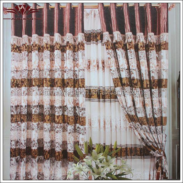 Style de rideau à dubaï, tissu de rideau, rideaux de velours-Rideaux ...