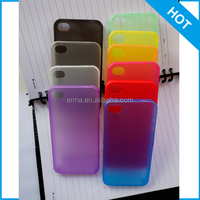 Free Shipping High Quality Candy Colors 0.3mm Ultra Slim Matte PP Plastic Cell Phone Case for iphone 4 4s in 10 colors