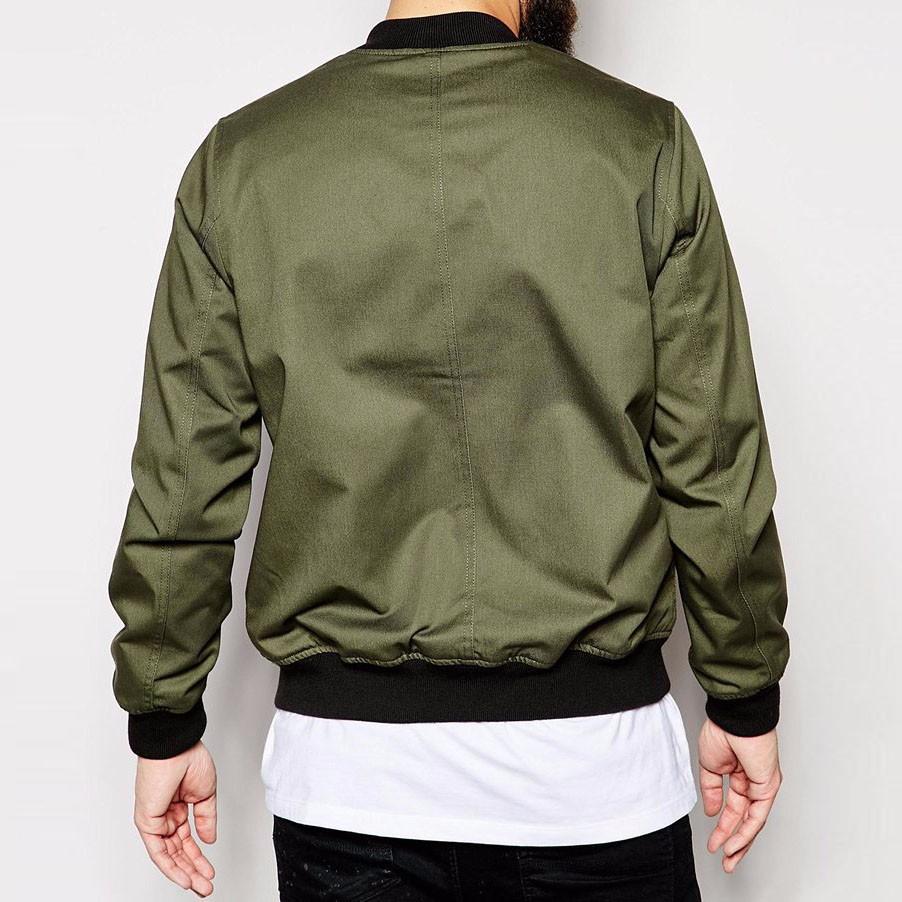 vert kaki hommes bomber jacket mode asym trique zip style baseball blouson col r gulier fit. Black Bedroom Furniture Sets. Home Design Ideas