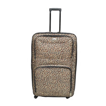 leopard printed 600D polyester EVA luggage/trolley case set with expandabe zipper