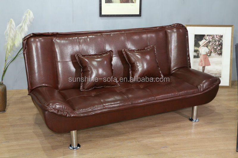 Leather cheap euro style folding sofa bed for home for Sofa 50 euro