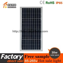 China manufacture 30w Polysilicon silicon solar panel Factory price,with CE RoHS TUV ISO