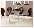 Bentwood tabla y silla de 1 + 4 marco de Metal