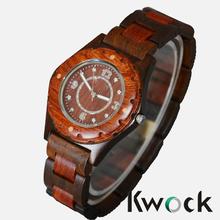New In Box Unisex Beige/Brown Date Natural Wood Wooden Watch wooden wrist watch
