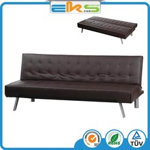 FABRIC UPHOLSTERED PU PVC LEATHER MODERN LIVING ROOM CLICK CLACK WHOLESALE FOLABLE SOFA BED