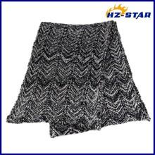 HZW-13762 comfortable 2015 wave fashion lady jacquard black men scarf jacquard
