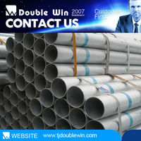 Hot sale high quality bs 1387 hot dip galvanized steel pipe / hollow section mild steel pipe