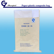 Plastic paper composite bag for chemicals or food materials