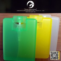 20ml credit card hand sanitizer spray ,pocket perfume mist bottle, plastic perfume atomizer