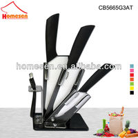 Vogue ceramic knife set kitchen with arcylic stand