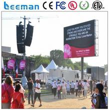 320*160mm hd p20 outdoor led video screen P10 SMD 16x64 dots led moving message sign board