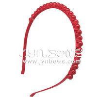 Red Bead & Red Crystal Tiara Hair Band