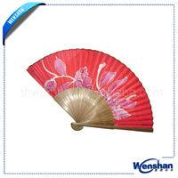 white wedding hand fan