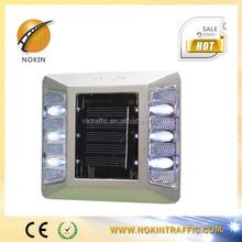 NK-RS-A6 high quality super capacitor aluminum led solar road stud,reflective road stud