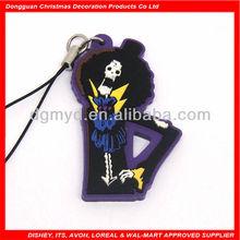 cute soft PVC belt clip key chain for Halloween