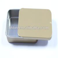 Blank Rectangular Metal Mint TIn Box with Slide Lid