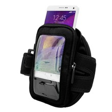 Black Zippered Sports Running Gym Armband Case for Samsung Galaxy Note 4 /Note 3 S5 S6